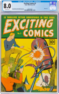 Exciting Comics #3 (Nedor, 1940) CGC VF 8.0 Off-white pages