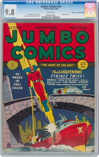 Jumbo Comics #16 Mile High Pedigree (Fiction House, 1940) CGC NM/MT 9.8 White pages