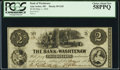 Obsoletes By State:Michigan, Ann Arbor, MI- Bank of Washtenaw $2 May 1, 1854 G42 PCGS Choice About New 58PPQ.. ...