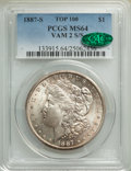 1887-S/S $1 VAM-2 MS64 PCGS. CAC. A Top 100 Variety. PCGS Population: (38/17). NGC Census: (0/0). MS64. From the Bert...