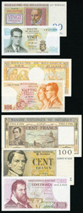 World Currency, Nearly A Dozen Notes from Belgium. Fine or Better.. ... (Total: 11 notes)