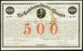 Confederate Notes:Group Lots, Ball 15 Cr. 3A $500 1861 Bond Very Fine.. ...