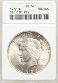1922 $1 Double Die Reverse MS64 ANACS. Mintage 51,737,000....(PCGS# 7357)
