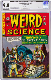 Weird Science #14 (#3) Gaines File Pedigree (EC, 1950) CGC NM/MT 9.8 Off-white to white pages