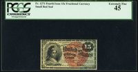 Fr. 1271 15¢ Fourth Issue PCGS Extremely Fine 45