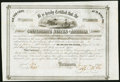Confederate Notes:Group Lots, Ball 268 Cr. 134 $3,000 1863 Six Per Cent Stock Certificate Fine.. ...