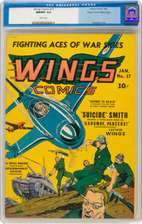 Wings Comics #17 Mile High Pedigree (Fiction House, 1942) CGC NM/MT 9.8 White pages