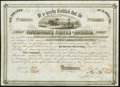 Confederate Notes:Group Lots, Ball 268 Cr. 134 $500 1863 Six Per Cent Stock Certificate Fine.. ...