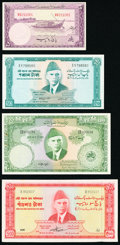World Currency, Pakistan State Bank of Pakistan 5 Rupees ND (1951) Pick 12; 50 Rupees ND (1964) Pick 17b; 100 Rupees ND (1957) Pick 18a; 500... (Total: 4 notes)