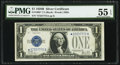 Fr. 1602* $1 1928B Silver Certificate Star. PMG About Uncirculated 55 EPQ