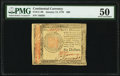 Continental Currency January 14, 1779 $60 PMG About Uncirculated 50