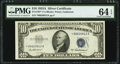 Fr. 1707* $10 1953A Silver Certificate Star. PMG Choice Uncirculated 64 EPQ