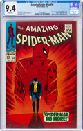 Silver Age (1956-1969):Superhero, The Amazing Spider-Man #50 (Marvel, 1967) CGC NM 9.4 White pages....