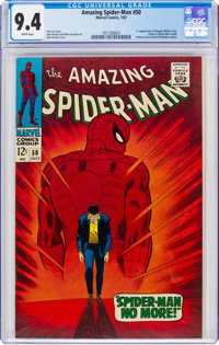 The Amazing Spider-Man #50 (Marvel, 1967) CGC NM 9.4 White pages