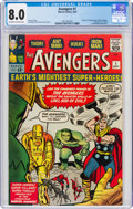 Silver Age (1956-1969):Superhero, The Avengers #1 (Marvel, 1963) CGC VF 8.0 Off-white to white pages....