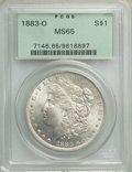 1883-O $1 MS65 PCGS. PCGS Population: (9368/1041). NGC Census: (11133/1088). MS65. Mintage 8,725,000. From the Bert Mi...