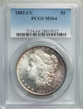 1882-CC $1 MS64 PCGS. PCGS Population: (13184/7372). NGC Census: (6488/3493). CDN: $225 Whsle. Bid for NGC/PCGS MS64. Mi...