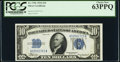 Small Size:Silver Certificates, Fr. 1701 $10 1934 Silver Certificate. PCGS Choice New 63PPQ.. ...