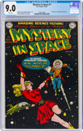 Golden Age (1938-1955):Science Fiction, Mystery in Space #1 (DC, 1951) CGC VF/NM 9.0 White pages....