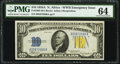 Fr. 2309 $10 1934A North Africa Silver Certificate. PMG Choice Uncirculated 64