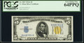 Fr. 2307 $5 1934A North Africa Silver Certificate. PCGS Very Choice New 64PPQ