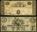 Obsoletes By State:Connecticut, New Haven, CT- Eagle Bank of New Haven $5 July 4, 1822; Merchants Bank $10 Jan. 10, 1855 Very Good or Better.. ... (Total: 2 notes)