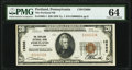 Portland, PA - $20 1929 Ty. 1 The Portland National Bank Ch. # 13606 PMG Choice Uncirculated 64
