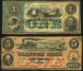 Obsoletes By State:Maryland, Baltimore, MD- American Bank $1 circa 1860 Fine;. Westernport, MD- Clinton Bank $5 Oct. 6, 1859 Very Fine.. ... (Total: 2 notes)