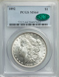 Morgan Dollars: , 1892 $1 MS64 PCGS. CAC. PCGS Population: (1688/362). NGC Census: (826/101). CDN: $675 Whsle. Bid for NGC/PCGS MS64. Mintage...