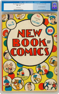 New Book of Comics #2 (DC, 1938) CGC FN- 5.5 Off-white pages