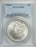 1900-S $1 MS65 PCGS. PCGS Population: (638/129). NGC Census: (180/26). CDN: $1,050 Whsle. Bid for NGC/PCGS MS65. Mintage...