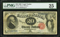 Large Size:Legal Tender Notes, Fr. 142 $20 1880 Legal Tender PMG Very Fine 25.. ...