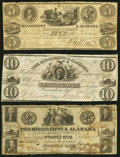 Obsoletes By State:Mississippi, Brandon, MS- Mississippi & Alabama Rail Road Company $5 Aug. 4, 1837; $10 June 1, 1838; $25 Oct. 4, 1839 Fine or Better.... (Total: 3 notes)