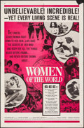 "Movie Posters:Documentary, Women of the World (Embassy, 1963). Folded, Overall: Very Fine-. One Sheet (27"" X 41""), Photos (8) (8"" X 10""), Lobby Cards (... (Total: 13 Items)"