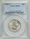 1908-O 25C MS64 PCGS. PCGS Population: (61/46). NGC Census: (68/29). MS64. Mintage 6,244,000. From The Triplets Colle...
