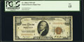 Low Serial Number 652 Fr. 1860-I $10 1929 Federal Reserve Bank Note. PCGS Fine 15