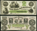 Obsoletes By State:New Jersey, New Brunswick, NJ- State Bank at New Brunswick $2; $5 18__ About Uncirculated or Better.. ... (Total: 2 notes)