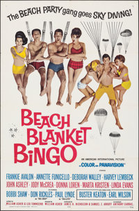 "Beach Blanket Bingo (American International, 1965). Folded, Very Fine+. One Sheet (27"" X 41""). Comedy"