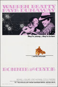 """Movie Posters:Crime, Bonnie and Clyde (Warner Bros-Seven Arts, 1967). Folded, Very Fine-. One Sheet (27"""" X 41""""). Crime.. ..."""