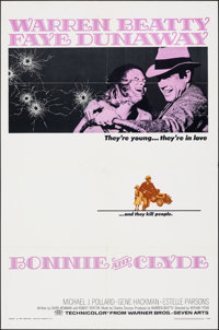 """Bonnie and Clyde (Warner Bros-Seven Arts, 1967). Folded, Very Fine-. One Sheet (27"""" X 41""""). Crime"""