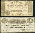 Obsoletes By State:North Carolina, Raleigh, NC- State of North Carolina $2 Oct. 4, 1861 Cr. 22; Jan. 1, 1863 Cr. 131 Extremely Fine or Better.. ... (Total: 2 notes)