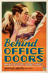 """Behind Office Doors (RKO, 1931). Folded, Very Fine-. One Sheet (27"""" X 41""""). From the Mike Kaplan Collection..."""