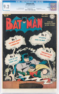 Batman #19 Rockford Pedigree (DC, 1943) CGC NM- 9.2 Off-white to white pages