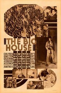 "The Big House (MGM, 1930). Good/Very Good on Linen. Rotogravure One Sheet (28"" X 42""). From the Mike Kaplan Co..."