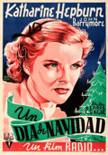 Movie Posters:Drama, Bill of Divorcement (RKO, R-1944). Folded, Very Fine-....