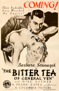 """Movie Posters:Drama, The Bitter Tea of General Yen (Columbia, 1933). Good on Linen. One Sheet (26"""" X 40"""") Advance. From the Mike Kaplan Collect..."""