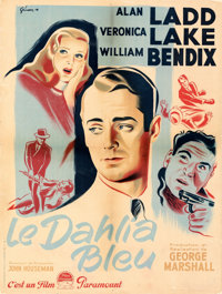 """The Blue Dahlia (Paramount, 1948). Fine/Very Fine on Linen. First Release French Moyenne (23.5"""" X 31.5"""") Boris..."""