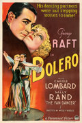 """Movie Posters:Drama, Bolero (Paramount, 1934). Fair/Good on Linen. One Sheet (27.25"""" X 41"""") Style A. From the Mike Kaplan Collection.. ..."""