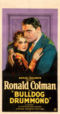 """Movie Posters:Mystery, Bulldog Drummond (United Artists, 1929). Fine/Very Fine on Linen. Three Sheet (41.5"""" X 79""""). From the Mike Kaplan Collecti..."""