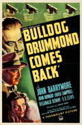 """Movie Posters:Mystery, Bulldog Drummond Comes Back (Paramount, 1937). Folded, Very Fine+. One Sheet (27"""" X 41""""). From the Mike Kaplan Collection...."""